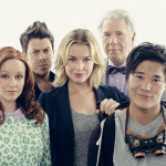 The Librarians Season 1 Gallery, Photgrpaher James White, PERSONALITIES: JOHN LARROQUETTE, CHRISTIAN KANE, Rebecca Romijn, LINDY BOOTH, JOHN KIM