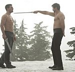 """Arrow -- """"The Climb"""" -- Image AR309b_0261b -- Pictured (L-R): Stephen Amell as Oliver Queen and Matt Nable as Ra's al Ghul -- Photo: Cate Cameron/The CW -- © 2014 The CW Network, LLC. All Rights Reserved."""