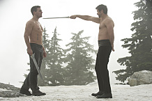 """Arrow -- """"The Climb"""" -- Image AR309b_0261b -- Pictured (L-R): Stephen Amell as Oliver Queen and Matt Nable as Ra's al Ghul -- Photo: Cate Cameron/The CW -- �© 2014 The CW Network, LLC. All Rights Reserved."""