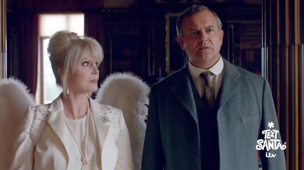 George Clooney Visits #DowntonAbbey for Christmas--Watch Full Video Now! #TextSanta