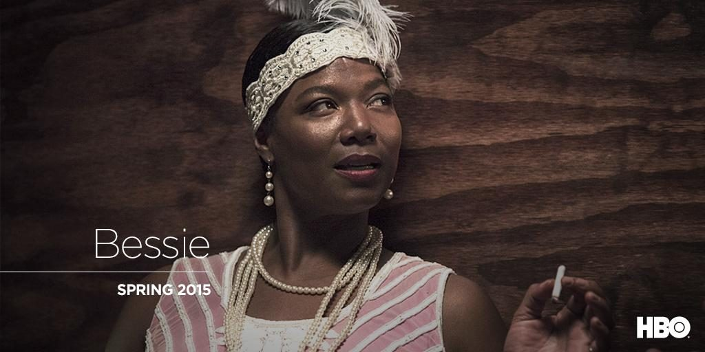"Image from HBO Twitter account with Queen Latifah for the upcoming film ""Bessie"""