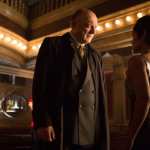 "GOTHAM: Carmine Falcone (John Doman, L) questions Fish Mooney (Jada Pinkett Smith, R) in the ""What The Little Bird Told Him"" episode of GOTHAM airing Monday, Jan. 19 (8:00-9:00 PM ET/PT) on FOX. ©2014 Fox Broadcasting Co. Cr: Jessica Miglio/FOX"