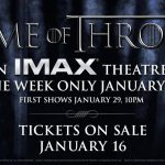 Game of Thrones IMAX Image Annoucement