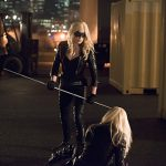 "Arrow -- ""Canaries"" -- Image AR313B_0207b -- Pictured (L-R): Caity Lotz as Sara Lance / Canary and Katie Cassidy as Laurel Lance / Black Canary -- Photo: Diyah Pera/The CW -- © 2015 The CW Network, LLC. All Rights Reserved."