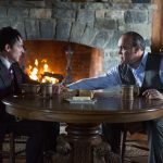 "GOTHAM: Maroni (guest star David Zayas, R) tests Oswald Cobblepot's (Robin Lord Taylor, L) loyalty in the ""The Fearsome Dr. Crane"" episode of GOTHAM airing Monday, Feb. 2 (8:00-9:00 PM ET/PT) on FOX. ©2015 Fox Broadcasting Co. Cr: Jessica Miglio/FOX"