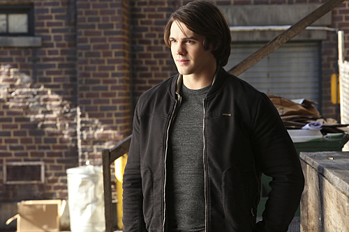 """The Vampire Diaries -- """"Stay"""" -- Image Number: VD614c_0360.jpg -- Pictured: Steven R. McQueen as Jeremy -- Photo: Annette Brown/The CW -- �© 2015 The CW Network, LLC. All rights reserved."""
