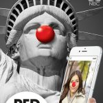 "RED NOSE DAY -- Pictured: ""Red Nose Day App - Red Nose Yourself for an Awesome Cause"" iOS App Screen -- (Photo by: NBCUniversal)"