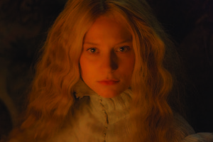 "MIA WASIKOWSKA stars as Edith Cushing in Legendary Pictures' ""Crimson Peak"", a gothic romance from the imagination of director Guillermo del Toro."
