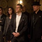 """Now You See Me 2"" Image Still featuring Jesse Eisenberg, Dave Franco, Woody Harrelson, and Lizzy Caplan. Courtesy of Summit Entertainment."