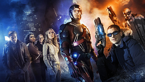 DC's Legends of Tomorrow -- Image LGD01_JN_0001 -- Pictured (L-R): Arthur Darvill as Rip Hunter, Ciara Renee as Kendra/Hawkgirl, Victor Garber as Professor Martin Stein, Caity Lotz as White Canary, Brandon Routh as Ray Palmer/Atom, Wentworth Miller as Leonard Snart/Captain Cold, and Dominic Purcell as Mick Rory/Heat Wave -- Credit: Jordan Nuttall/The CW -- �© 2015 The CW Network, LLC. All Rights Reserved.