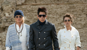 """Zoolander 2"" image still featuring Ben Stiller as Derek Zoolander, Owen Wilson as Hansel, and Penelope Cruz as Montana Grosso"