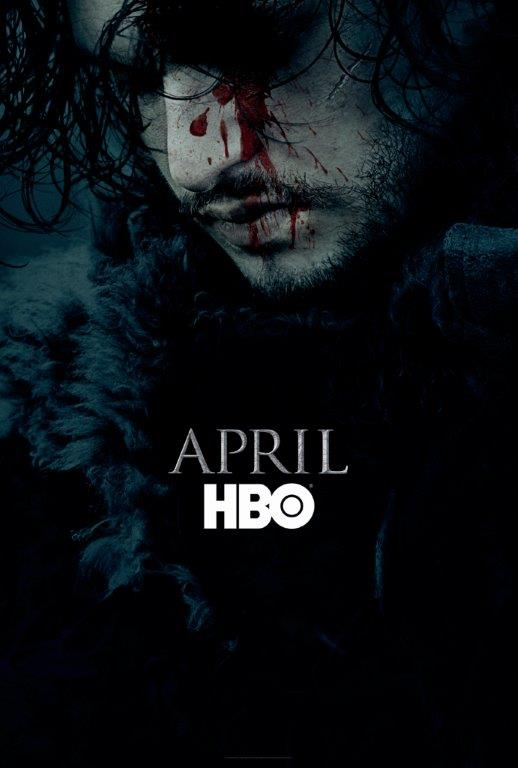 Game of Thrones Season 6 Teaser Poster Featuring Jon Snow. Source: @GameOfThrones
