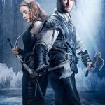 The Huntsman Winter's War Poster; Chris Hemsworth as The Huntsman and Jessica Chastain as Sara The Warrior. Courtesy of Universal Pictures.