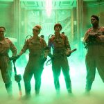 The Ghostbusters Abby (Melissa McCarthy), Holtzmann (Kate McKinnon), Erin (Kristen Wiig) and Patty (Leslie Jones) inside the Mercado Hotel Lobby in Columbia Pictures' GHOSTBUSTERS. Photo courtesy of Columbia Pictures.