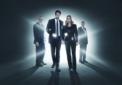 THE X-FILES: L-R: Mitch Pileggi, David Duchovny, Gillian Anderson and William B. Davis. The next mind-bending chapter of THE X-FILES debuts with a special two-night event beginning Sunday, Jan. 24 (10:00-11:00 PM ET/7:00-8:00 PM PT), following the NFC CHAMPIONSHIP GAME, and continuing with its time period premiere on Monday, Jan. 25 (8:00-9:00 PM ET/PT). ©2015 Fox Broadcasting Co. Cr:
