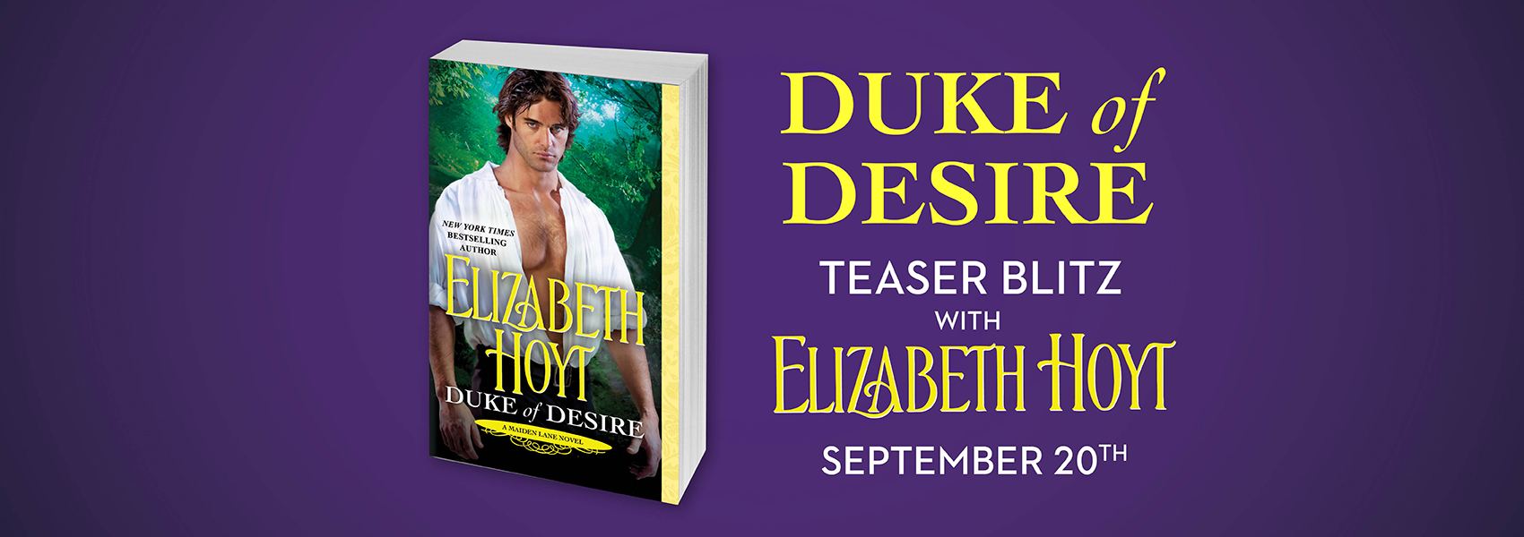 SPOTLIGHT: 'Duke of Desire' by Elizabeth Hoyt