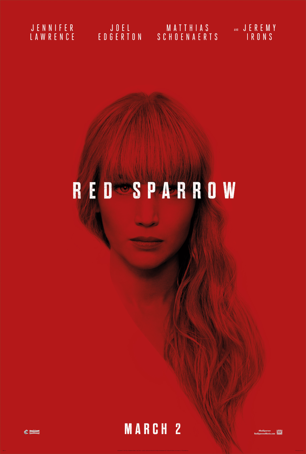 FIRST LOOK: 'Red Sparrow' Starring Jennifer Lawrence, Coming this March