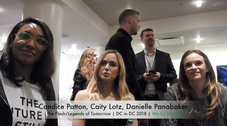 WSN INTERVIEWS: Candice Patton, Caity Lotz, & Danielle Panabaker at DC in DC 2018